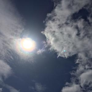 十一面観世音さまが雲に!(◎_◎;)