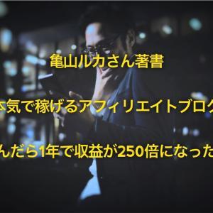 亀山ルカさん著書【本気で稼げるアフィリエイトブログ】読んだら1年で収益が250倍になった。