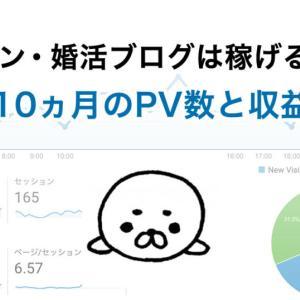【アフィリエイト】街コン・婚活・マッチングアプリのブログは稼げるの?始めて10ヶ月のPV数と収益の報告