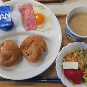 朝食と手抜きの夕食