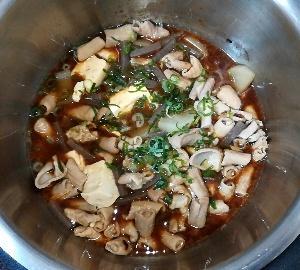 ホットクック:もつ煮込み(みそ味)のレシピに挑戦!手動の煮物機能で1時間!