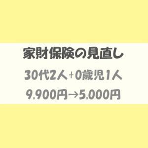 賃貸の家財保険(火災保険)の見直し。年額保険料が5,000円になりました。