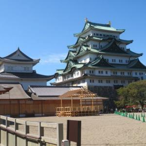 ***感動モノの名古屋城本丸御殿と台風19号に耐えたバラたちの消毒