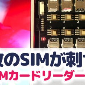 SIMカードが12枚入る変態SIMカードリーダーをAliExpressで輸入してみた。利用レビューと荷姿や納期について。