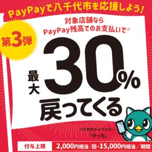 PayPayで街を応援!6月は30自治体でキャンペーン開催中!最大30%戻ってくる!
