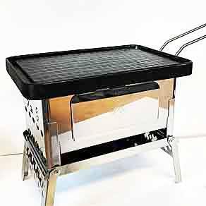 【かるpan】ソロ用の軽量グリルプレート。山でも美味しいステーキを!