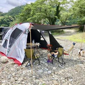 【父子キャンプ】いつもの場所で緊急事態宣言解除後の初キャンプ