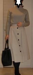 GUフロントボタンフレアスカート新色コーデ☆限定価格になっています