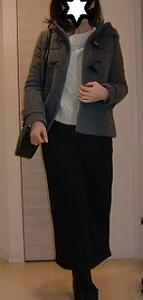 GUショートダッフルコートを大人っぽく☆