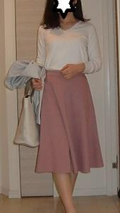 GUポンチフレアスカート☆女子力高めなデートコーデ