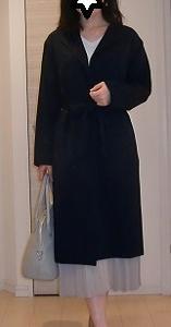 GUノーカラーラップコートの大人女子におススメ☆上品コーデ