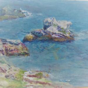 光の春の海 リアス式海岸