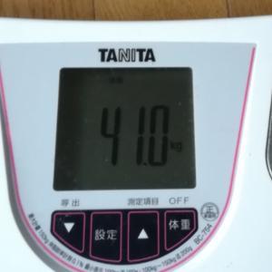 今朝の体重だ〜