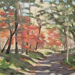 前回の森林公園を油彩でも描く