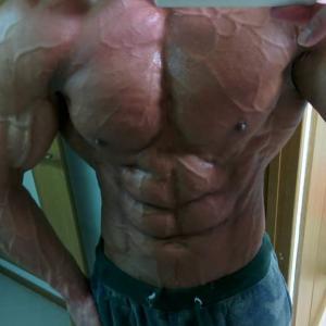 筋肉評価してくれ 100点満点中何点くらいある?