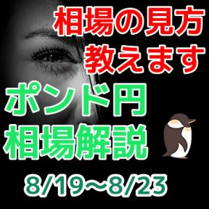 初心者でも分かる今週のポンド円振り返り 【8/19~8/23】