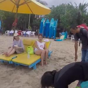 真面目で熱いサーフィンレッスン1日目 コーチが良いと・・・Kuta Beach Bali