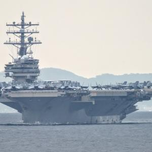 2020.08.01 船活 東京湾フェリーから米空母ロナルド・レーガンを撮影
