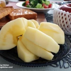 福島県の大きなりんご♪ 朝ご飯とオイル活の成果🌟