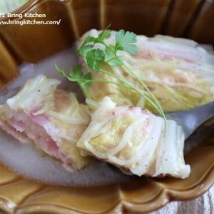 電子レンジ調理♪【レシピ】白菜とベーコンチーズのレンジ蒸し