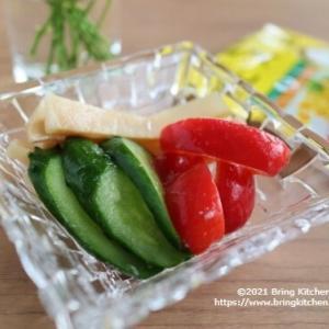 ダイソーで発見!100円漬物【レシピ】野菜とメンマのレモスコ漬け