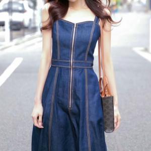 太めストレートデニムを着たくない人専用・女らしく着られるデニムアイテム