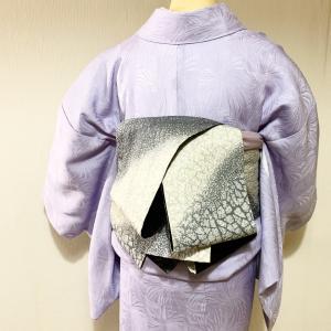 着物でおでかけ!便利な色無地と半幅帯の簡単帯結びコーデ