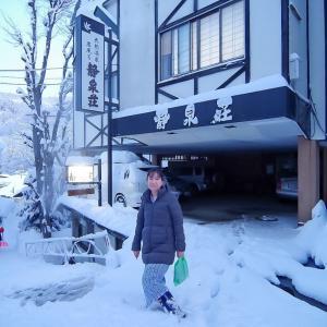 雪の野沢温泉街♪