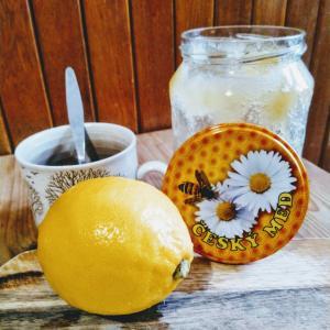 蜂蜜ほっとレモン。