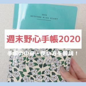 週末野心手帳2020の中身と使い方を徹底解説!【はあちゅう×村上萌】