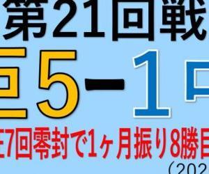vs中日(第21回戦)~戸郷翔征7回零封で1ヶ月振り8勝目&M24!(2020.0927)