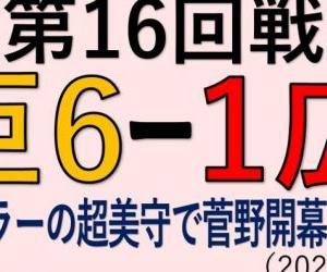 vs広島(第16回戦)~ウィーラーの超美守で菅野開幕12連勝!(2020.0929)