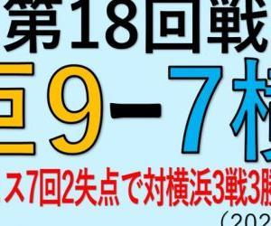 vs横浜(第18回戦)~サンチェス7回2失点で対横浜3戦3勝&M14!(2020.1008)