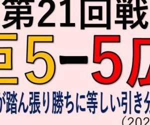 vs広島(第21回戦)~リリーフが踏ん張り勝ちに等しい引き分けでM8!(2020.1015)