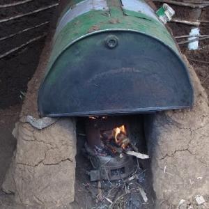 薪オーブンと出産