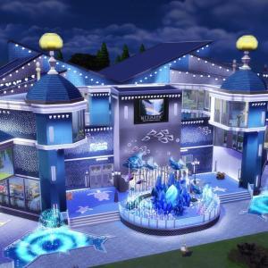 The Sims4 「AQUARIUM 水族館の区画 配布」 不思議町日誌(74)