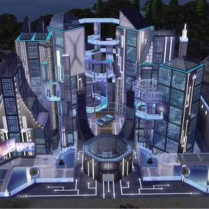 The Sims4「Future City for alien 配布」