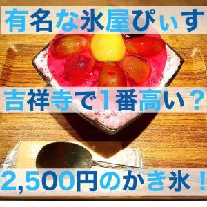 【吉祥寺・氷屋ぴぃす】かき氷の値段高い?2,500円かき氷レポ!