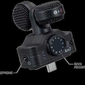 ZoomからAndroid用高音質マイク「Am7」 が発売 iQ7のAndroid版