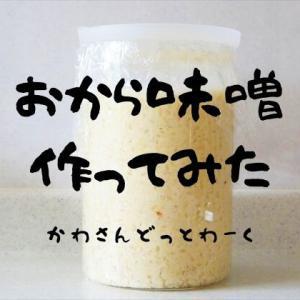 エコなお味噌!おから・豆乳・塩・糀で「おから味噌」作ってみた。