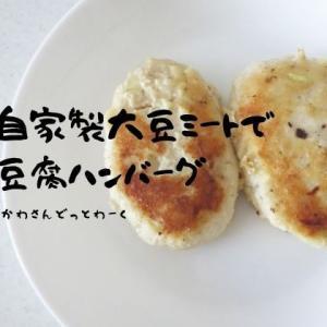 手作り大豆ミート活用レシピ、肉なし豆腐ハンバーグを作る。
