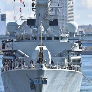 3/8:イギリス海軍フリゲート艦「モントローズ」入港@晴海
