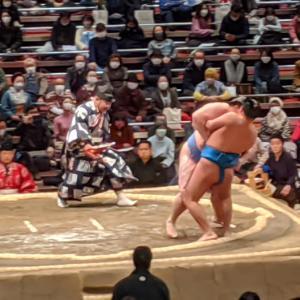 大相撲観戦(令和3年初場所2日目)