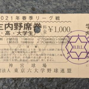 2021年東京六大学野球春季リーグ戦(法政大学VS立教大学)