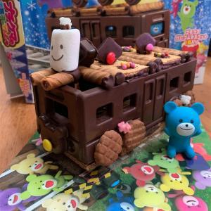 【ブルボン☆プチクマのお菓子のでんしゃ】バレンタインに息子と作ってみました♪