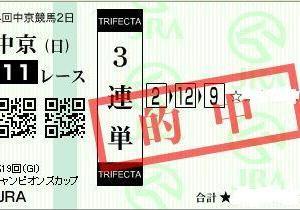 チャンピオンズカップ大本線で馬連・3連単的中!阪神JFも楽勝!
