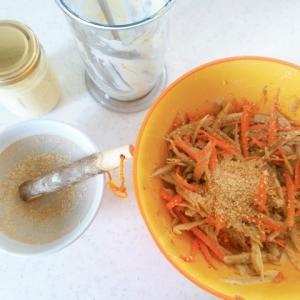 手作りマヨネーズでごぼうサラダをつくる
