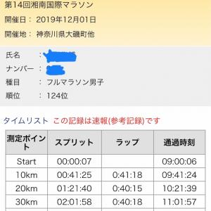 【レースレポート③】湘南マラソン