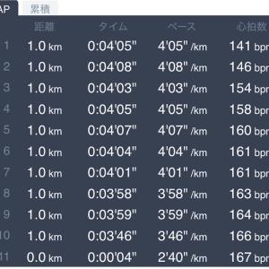 10キロMペース走 2月9日