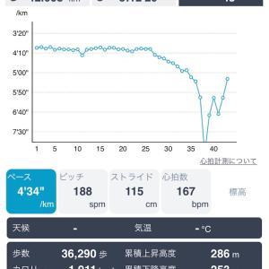 【速報】42キロ走の結果